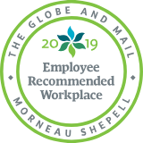 The Globe and Mail Employee Recommended badge