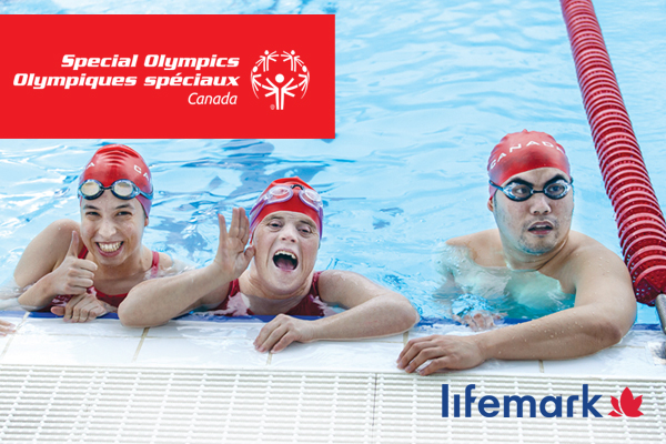 Special Olympics athletes in a swimming pool