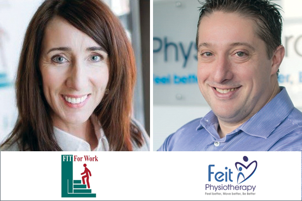 Sharon Horan of FIT For Work and Aaron Feit of Feit Physiotherapy